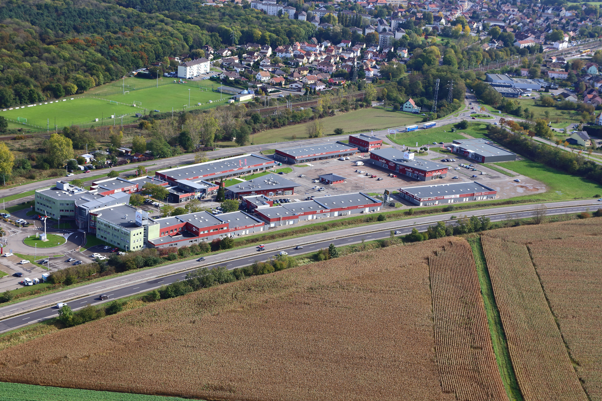 alsaprint mulhouse photo aerienne cite habitat